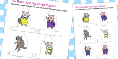 Australia - The Three Little Pigs Finger Puppets