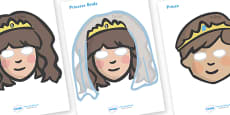 The Princess and the Pea Story Role Play Masks