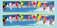 International Day Display Banner