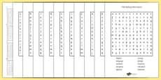 Year 5-6 Statutory Spelling List Wordsearch Pack