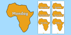 Days of the Week on Africa