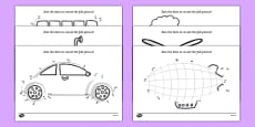 Transport Dot to Dot Activity Sheet Pack