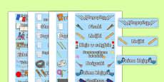 Classroom Equipment Tray Labels Polish