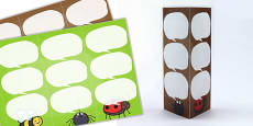 Minibeasts Themed Standing Tabletop Targets