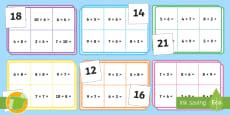 Bingo: Tablas de multiplicar - x6, x7, x8 y x9