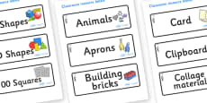 Heron Themed Editable Classroom Resource Labels