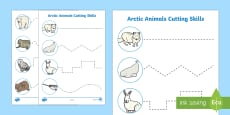 Arctic Animal Themed Cutting Skills Activity