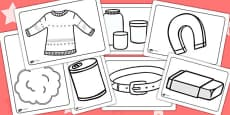 Materials Colouring Pages