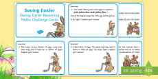 * NEW * Year 2 Saving Easter Reasoning Maths Challenge Cards
