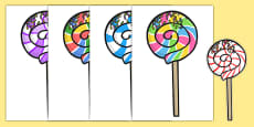 Five Lollipops Cut Outs