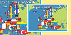 El día europeo de las lenguas A2 Display Poster