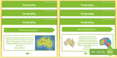* NEW * Year 3 Geography Content Descriptor Statements Display Pack