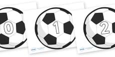 Numbers 0-100 on Football