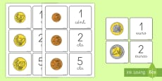 * NEW * Tarjetas de emparejar: Monedas