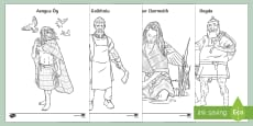 Irish Celtic Gods and Goddesses Colouring Pages