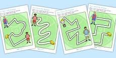 Australian Football League Pencil Control Path Worksheets