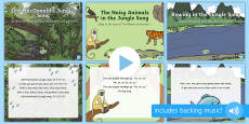 Jungle and Rainforest Songs and Rhymes PowerPoints Pack