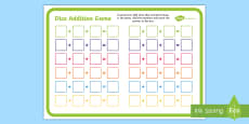 Three Dice Addition Game