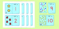 Halving Matching Jigsaw Cards - Australia