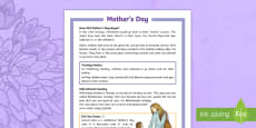 * NEW * KS2 Mother's Day Differentiated Fact File