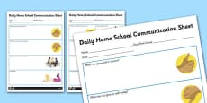 Daily Home School Communication Sheet Secondary
