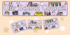 School Council Display Banner