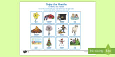 Months of the Year Cut and Stick Activity Sheet English/Portuguese