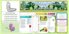 * NEW * Childminder EYFS Resource Pack to Support Teaching on The Crunching Munching Caterpillar