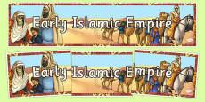 Early Islamic Empire Display Banner