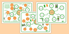 St. Patrick's Day Differentiated Concept Maps Polish