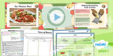 PlanIt - D&T UKS2 - Global Food Lesson 4: Mexican Food Lesson Pack
