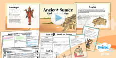 PlanIt - History UKS2 - Ancient Sumer Lesson 4: Gods and Religion Lesson Pack