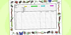 Minibeasts Themed Editable Medium Term Planning Template