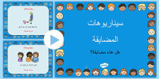 Bullying Scenarios and Information PowerPoint Arabic