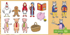 Story Cut-Outs to Support Teaching on Mr Wolf's Pancakes