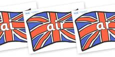 Phase 3 Phonemes on Union Jacks