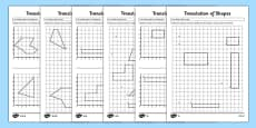 Translation of Shapes Activity Sheet Pack
