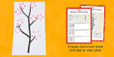 Blossom Tree Printing Craft Instructions