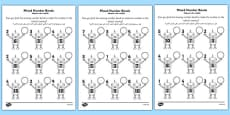 Mixed Number Bonds to 10 on Robots Activity Sheet Arabic Translation