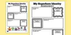 Superhero Transition Writing Frame Mandarin Chinese Translation