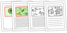 Story Writing Frames to Support Teaching on What the Ladybird Heard