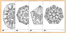 Mindfulness Colouring 2D Shapes