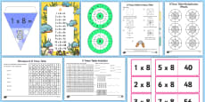 * NEW * 8 Times Table Resource Pack