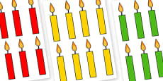 Editable Multicoloured Candles Plain