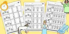 Cinderella Themed Capital Letter Matching Activity Sheet