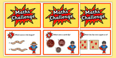Reception Maths Challenge Cards