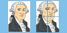 George Washington Display Cut Out