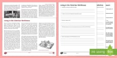 * NEW * Living in the Victorian Workhouse Differentiated Reading Comprehension Activity