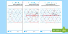 UKS2 Snowflake Symmetry Maths Differentiated Activity Sheets