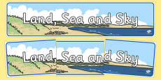 Land, Sea and Sky Display Banner